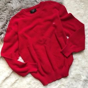 CHRISTIAN DIOR Men's Red SWEATER Pullover Vintage